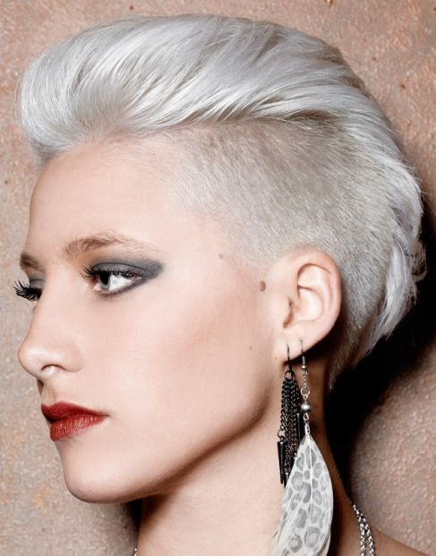 Phenomenal For Women The Head And Silver Hair On Pinterest Short Hairstyles Gunalazisus