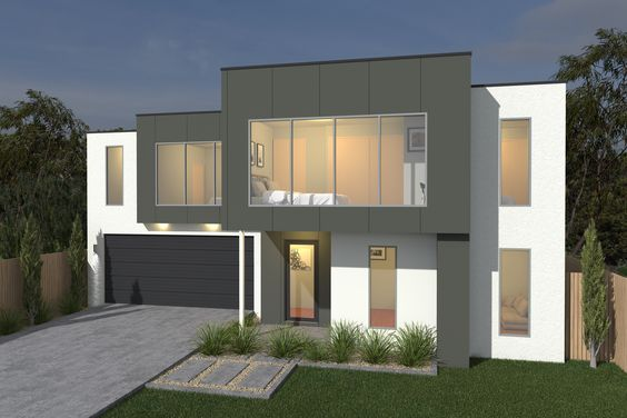 Costa Home Designs  Sunshine Coast Home Builders MAGENTA249  Signature Facade