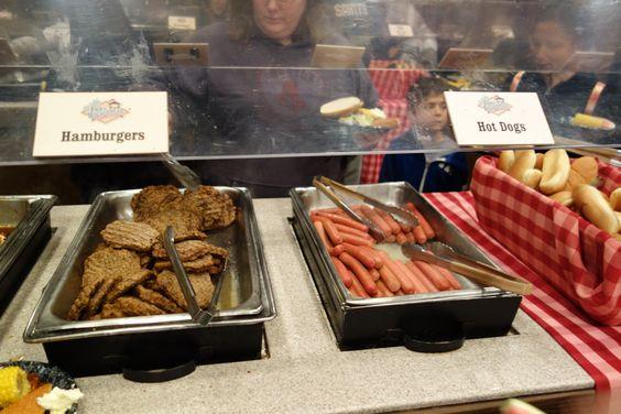 mickey's backyard bbq food hot dogs hamburgers