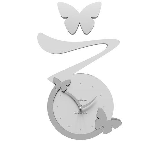 Wanduhr Butterfly - weiß - Callea