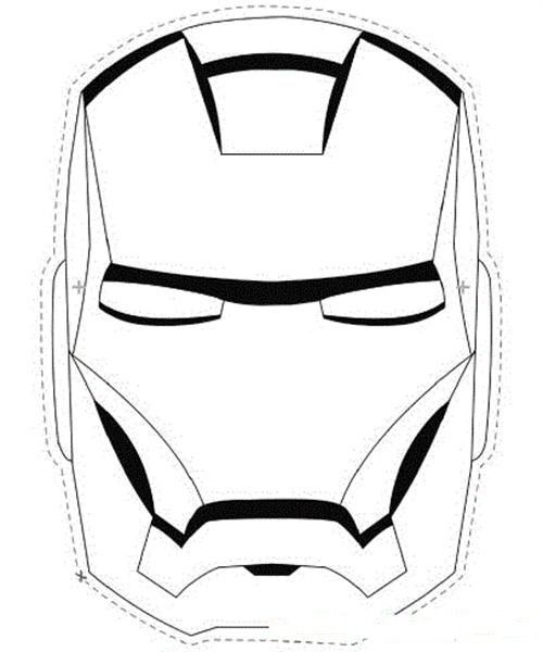 Mascaras Para Colorear De Superheroes Iron Man Mask Iron Man