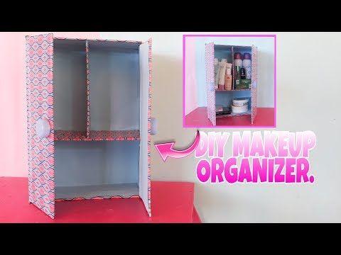 Cara Membuat Lemari Make Up Dari Kardus Diy Makeup Organizer Youtube Kardus Pembuatan Lemari Ide