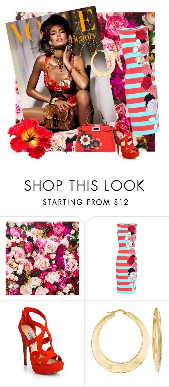 """Bianca"" by deborah-strozier ❤ liked on Polyvore featuring Kate Spade, Antonio Marras, Dolce&Gabbana, Prada, Ross-Simons, Fendi and oversizedflorals"