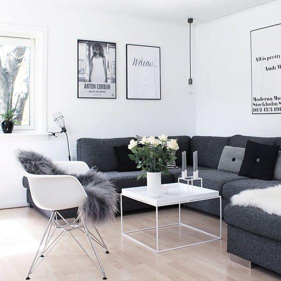 stue inspo bylassen kubus posters black and white interior INTERIOR ...