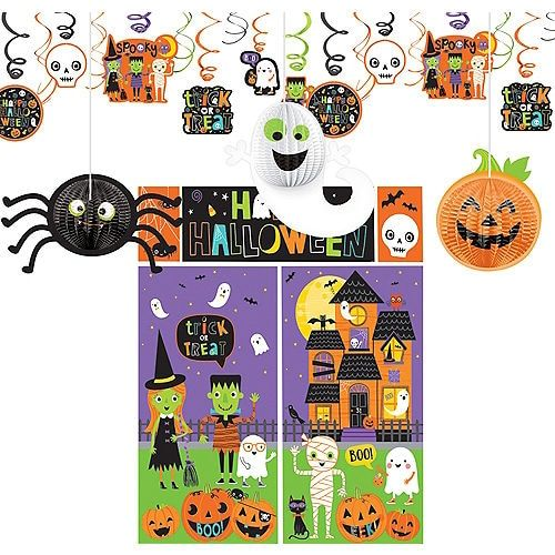 Halloween Friends Decorating Kit Party City Kid Friendly Halloween Decorations Halloween Decorations For Kids Halloween Party Kids