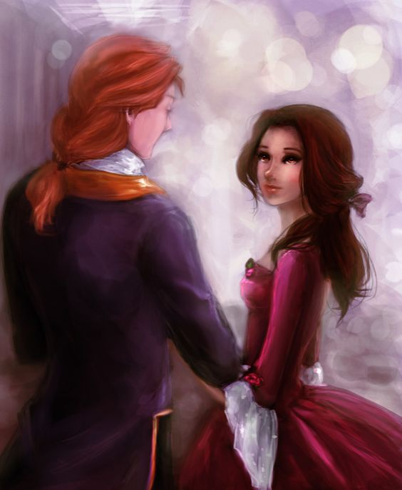 Adam (Beast) and Belle.: