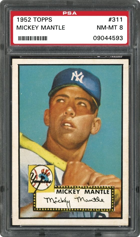 10 Most Expensive Baseball Cards 1 1952 Topps Mickey Mantle 525 000 Old Baseball Cards Rare Baseball Cards Baseball Cards