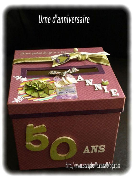 Urne danniversaire-50 ans-2  urnes  Pinterest