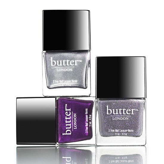 Have you seen Butter London's Royals Collection ($39)? Cool metallic shades with cheeky names: Waity Katie, Lillibet's Jubilee, and Pitter Patter. #RoyalBaby FTW