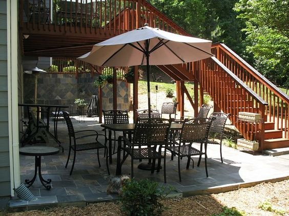 Pinterest the world s catalog of ideas for Walkout basement patio ideas