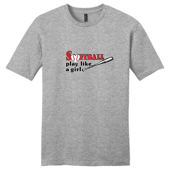 Softball Play Like A Girl T-Shirt