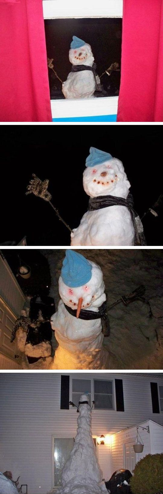 scaring your kids in the winter...