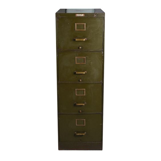 Steel Four-Drawer Filing Cabinet £140