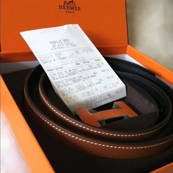 authentic hermes h belt price
