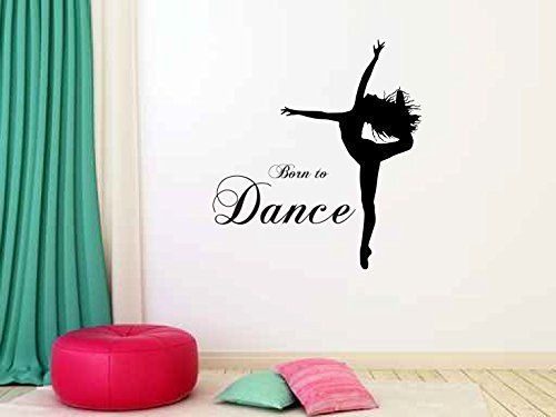 Born to Dance Vinyl Wall Words Decal Sticker Graphic. Measures 22 x 24 inches. Application instructions are included. Some decals may come in multiple pieces due to the size of the design.
