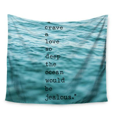 East Urban Home Crave Love by Debbra Obertanec Wall Tapestry Size: