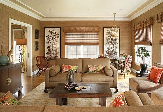 Organic Asain inspired touches interior design architecture décor decoration decorating styling eastern home inspiration Asian texture