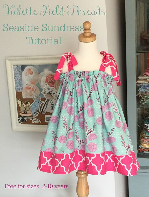 How to sew a sweet Seaside Sundress Tutorial from WeAllSew. #summer #dress #sewing