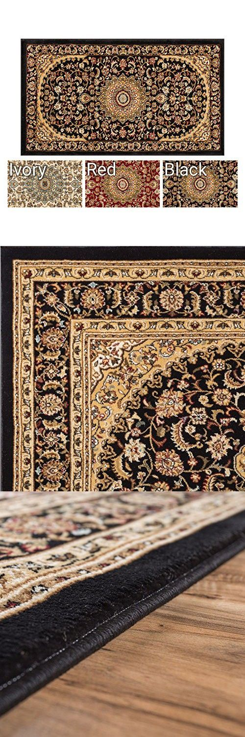 Sultan Medallion Black Oriental Area Rug 2 X 4 23 311 Persian Floral Traditional Easy Clean