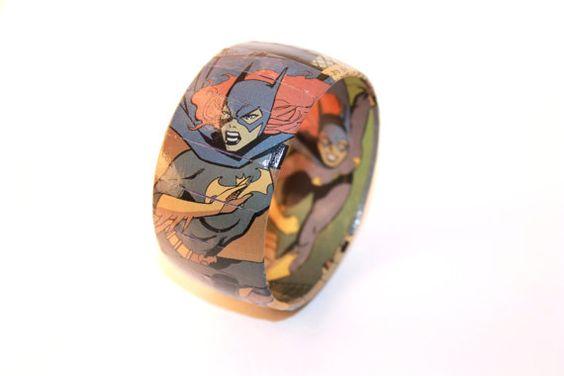 BATGIRL Comic Book Bangle Bracelet Barbara Gordon by avokes97, $28.00