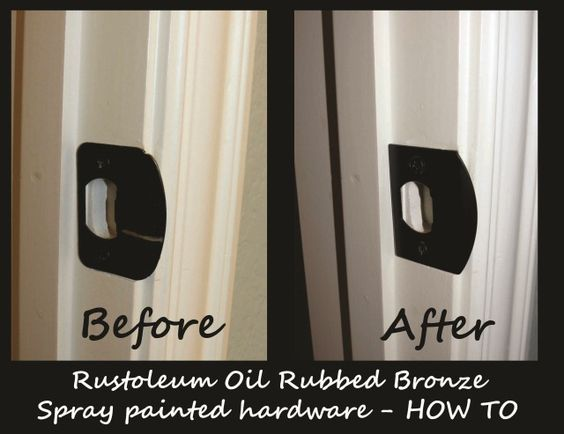 How to spray paint shower door handles and sprays on for How to spray paint doors
