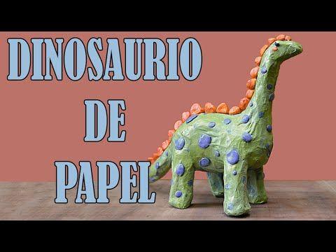 Cómo Hacer Un Dinosaurio De Papel Youtube Cómo Hacer Sobres De Papel Piñata Casera