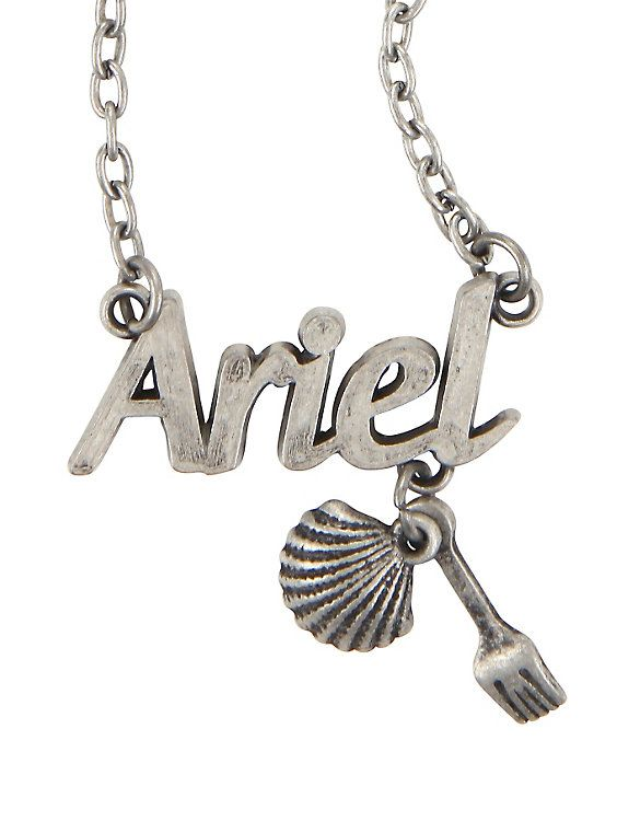 Disney The Little Mermaid Ariel Nameplate Necklace,
