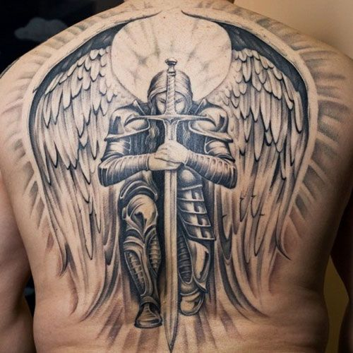 101 Best Angel Tattoos For Men Cool Designs Ideas 2019 Guide Angel Tattoo Men Guardian Angel Tattoo Archangel Tattoo