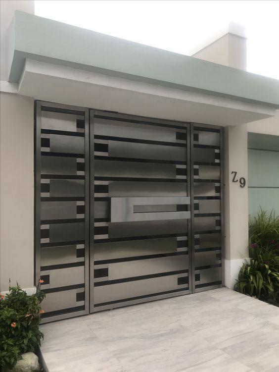 Tendencias En Portones De Herreria Puertas De Aluminio Modernas Puertas De Garaje Modernas Diseno De Puertas Modernas