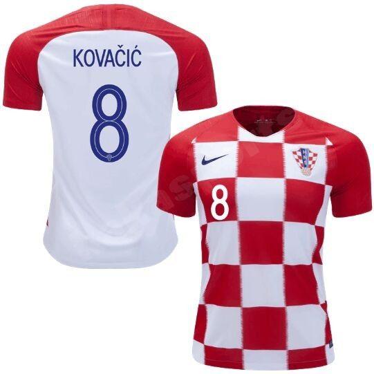 2018 World Cup Croatia Home Soccer Jersery KOVACIC 8The Nike