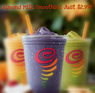 $2.99 Almond Milk Smoothie at Jamba Juice!!