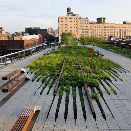 The High Line allows you to look through the city, giving you a completely new perspective...