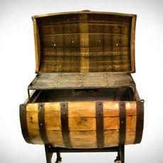 Whiskey Barrel BBQ pit: Mancave Stuff, Man Cave, Barrel Smoker, Diy Barriles Diy Barrels, Bbq Pit, Bbq Grill