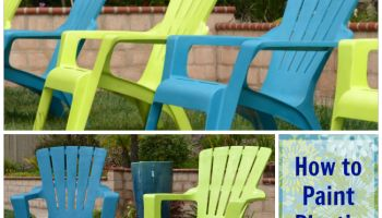 Spray Painted Plastic Outdoor Chairs Update One Year Later Chairs Outdoor Chairs And Sprays