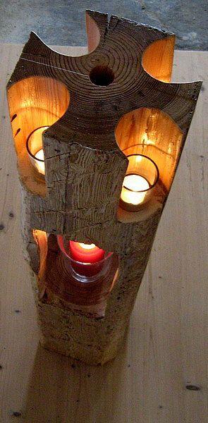 Exklusives aus Holz Holzlaterne Altholztis: Historische