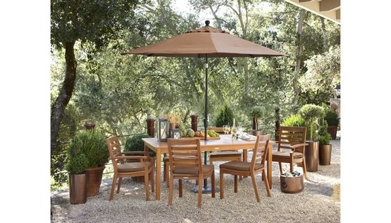 Smith & Hawken® Brooks Island Wood Patio Dining Furniture Collection - Walnut.Opens in a new window.
