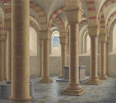 Krypt onder de dom van Speyer (D.) art Maarten 't Hart