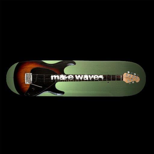 Make Waves Guitar Slinger Skateboard available at www.zazzle.com/makewavessurfgear