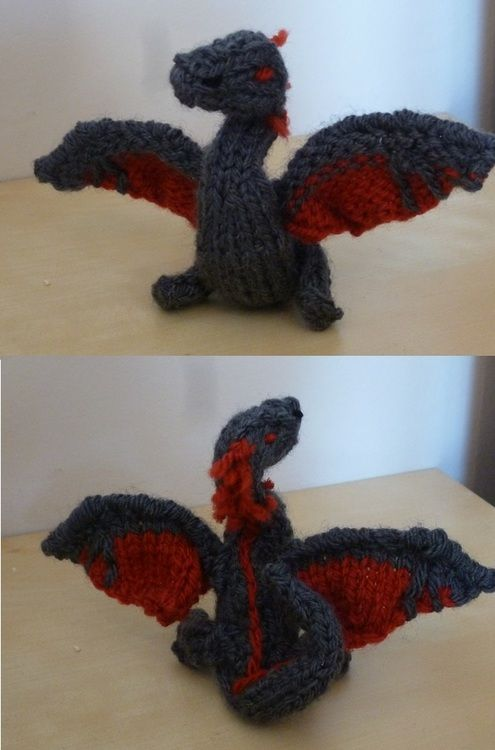 Knit Dragon Pattern : Awesome FREE dragon knitting pattern! For mama Leia!!! Knitting Pinterest...
