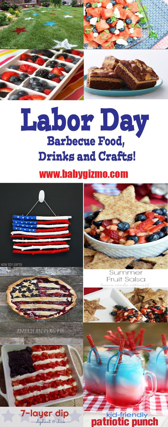 Labor Day Barbecue Food, Drinks and Crafts!