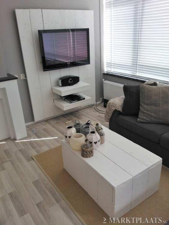 Tv meubel steigerhout doe het zelf pinterest tvs en for Steigerhout tv meubel maken