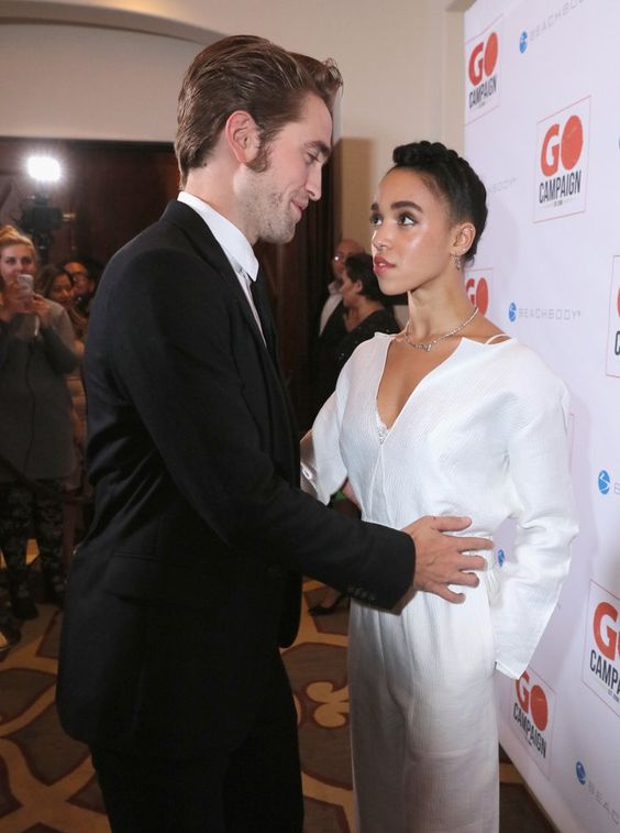 Pin for Later: FKA Twigs Wore a White Jumpsuit So Nice, Robert Pattinson Couldn't Stop Staring  Robert Pattinson and FKA Twigs showed off their cute couple style on the red carpet.