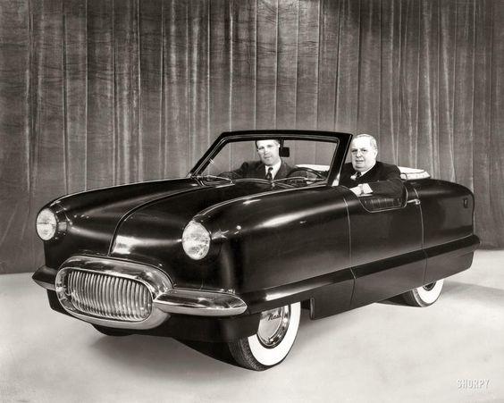 """1950 Nash NXI."" The Nash Experimental International, the basis for the Nash Metropolitan"