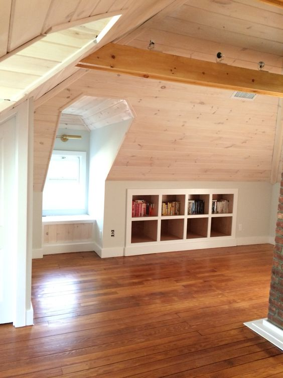 Attic Tongue And Groove Pine Ceiling Pickled White W