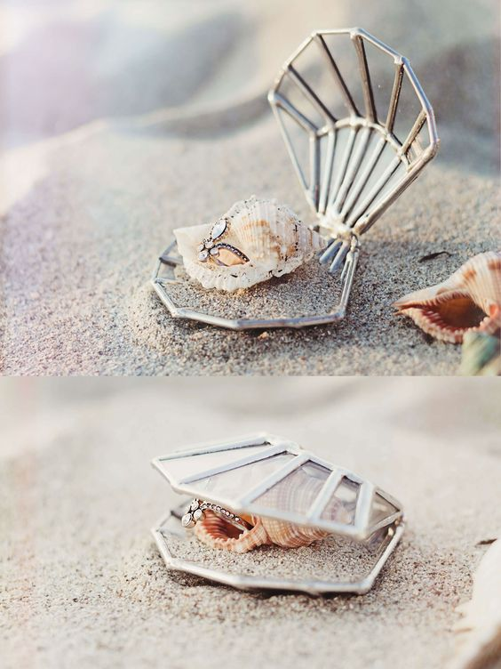 Seashell Ring Box | Beach Wedding Decor