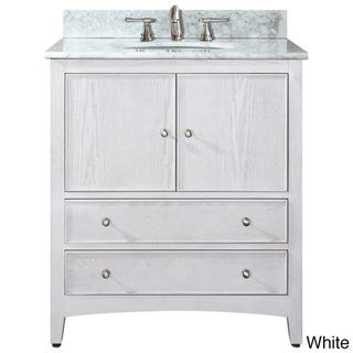 Avanity Westwood 24-inch Single Vanity in White Washed Finish with ...