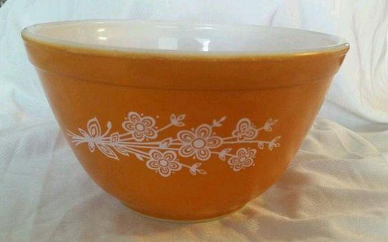 Pyrex butterfly gold nesting bowl vintage  401 #pyrex