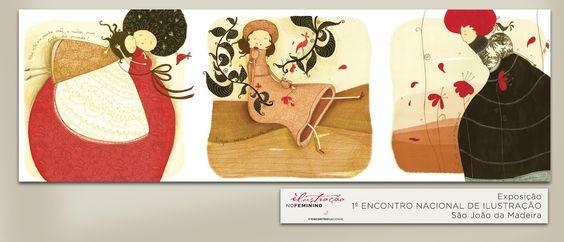 Ilustração Raquel Pinheiro: Encontro Nacional de Ilustração | S.J. Madeira