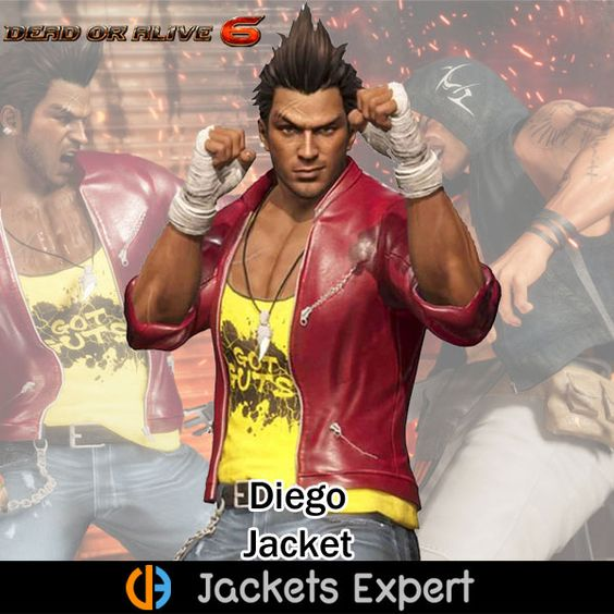 Dead Or Alive 6 Diego Red Leather Jacket In 2020 Red Leather Jacket Jackets Leather Jacket