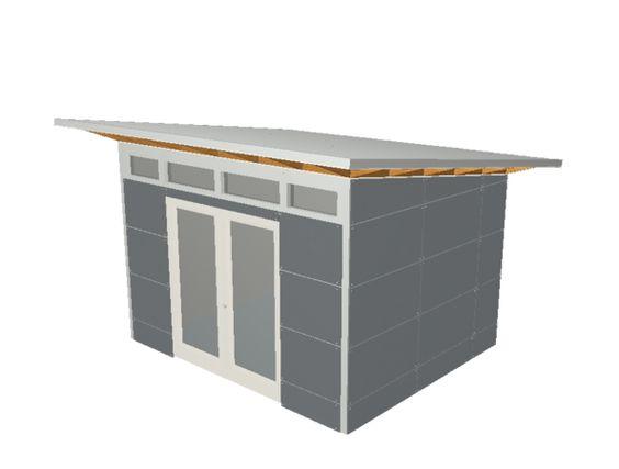 Design & Build Your Own Modern Backyard Shed or Studio | 3D Prefab Modern Shed Plans
